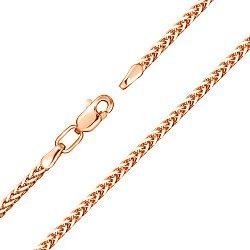 Браслет из красного золота в плетении Колосок 000133593