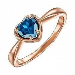 Кольцо из красного золота с топазом 000137145