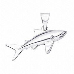 Серебряная подвеска Акула 000133772