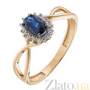 Золотое кольцо с бриллиантами и сапфиром Нинет KBL--К1847/крас/сапф