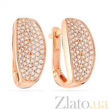 Золотые серьги с цирконием Валери SUF--110211