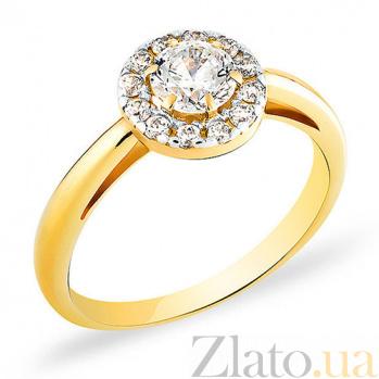 Кольцо из желтого золота с фианитами Лусетта SUF--140394ж