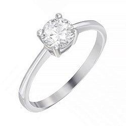 Серебряное кольцо с цирконием SWAROVSKI 000039529