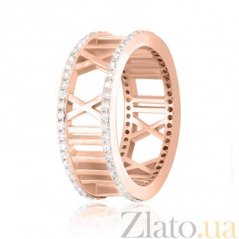 Серебряное кольцо Римское время с фианитами и позолотой в стиле Тиффани 000080062