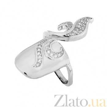 Серебряное кольцо-ноготь с цирконием Чарующий Восток 000028091