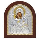 Икона Божией Матери Владимирская, овальная