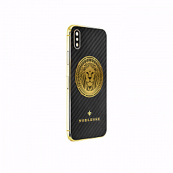 Apple IPhone XS Noblesse LION GOLD в черном карбоне и изображением льва из золота