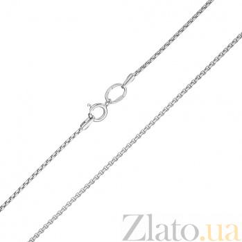 Золотая цепочка Мадейра в белом цвете, 1мм 000078590