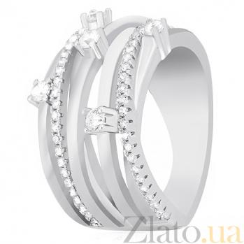 Серебряное кольцо Эржебет с фианитами 000030909
