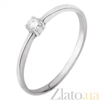 Помолвочное кольцо в белом золоте Покорение сердца с бриллиантом  SVA--1100830202/Бриллиант