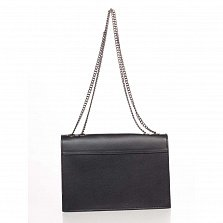 Кожаный клатч Genuine Leather 8415 черного цвета клапаном на кнопке-магните