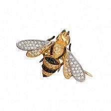 Брошь Пчелка из желтого золота