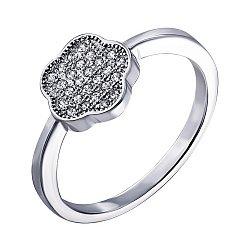Серебряное кольцо с фианитами 000125206