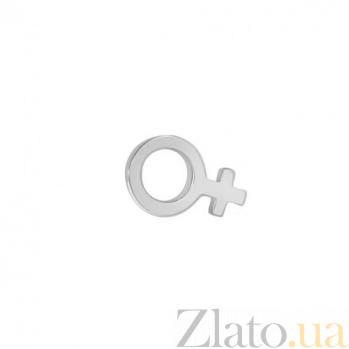 Серьга-гвоздик из белого золота в одно ухо Женщина SVA--2501209102/Без вставки