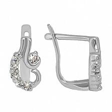 Серебряные серьги с фианитами Вдохновение