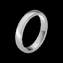 Мужское обручальное кольцо Маями в белом золоте