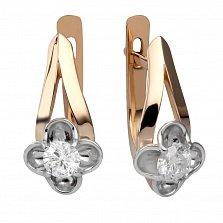 Золотые серьги с бриллиантами Моника