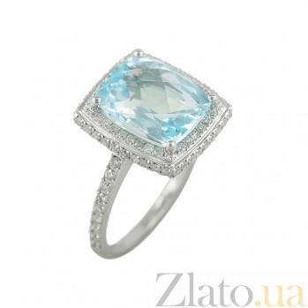 Золотое кольцо с топазом и бриллиантами Лурдес 1К278-1258