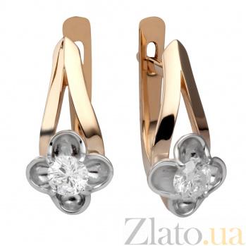 Золотые серьги с бриллиантами Моника 000030551
