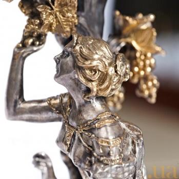 Серебряная ваза Дева 857