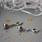 Серебряные серьги-подвески с цирконием Миранда 000006824