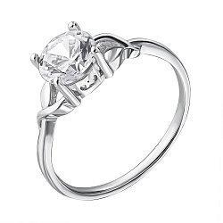 Серебряное кольцо с кристаллом циркония 000112718