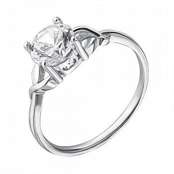 Срібна каблучка з кристалом цирконію 000112718