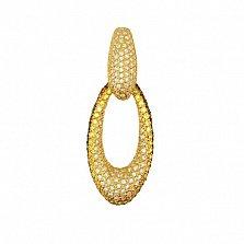 Золотая подвеска Анжела з кристаллами циркония