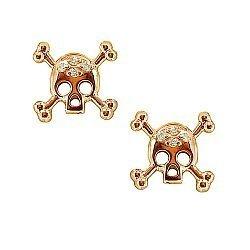 Серьги из красного золота с бриллиантами Метка
