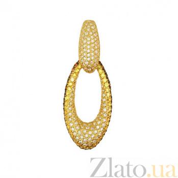 Золотая подвеска Анжела з кристаллами циркония VLT--ТТ3351-1