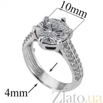 Серебряное кольцо с цирконием Снежана Снежана к/бел