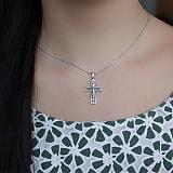 Серебряный крест с чернением Посланник небес