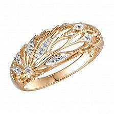 Кольцо Жар- птица из красного золота с бриллиантами