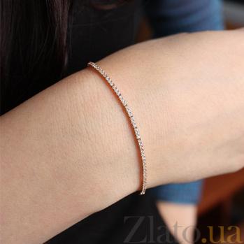 Золотой браслет с цирконием Жоселин 000035545