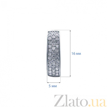 Серьги серебряные Асия AQA--W-0041-E