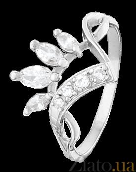 Серебряное кольцо с цирконием Веер 000025820