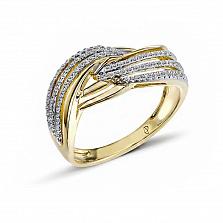 Кольцо из желтого золота Адора с бриллиантами