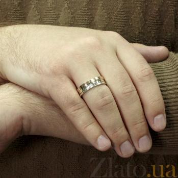 Серебряное кольцо с золотой вставкой Навіки разом ти і я  BGS--605к