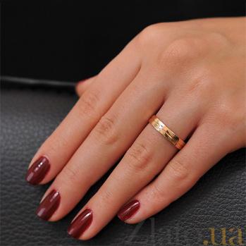 Золотое обручальное кольцо с фианитом Бельведер 000001628