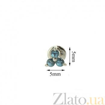 Серьги-пуссеты из белого золота с топазами Хлоя ZMX--ET-6561w_K