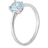 Серебряное кольцо с голубым фианитом Айрес