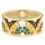 Мужское золотое обручальное кольцо Талисман счастья