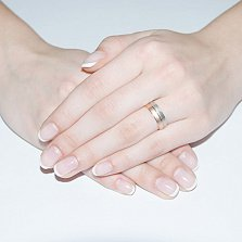 Золотое обручальное кольцо Драгоценная пара