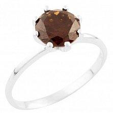 Серебряное кольцо Мирабелла с гранатом