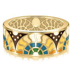 Мужское золотое обручальное кольцо Талисман счастья 000009984