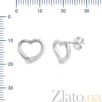 Серебряные серьги-пуссеты Джая 000081944