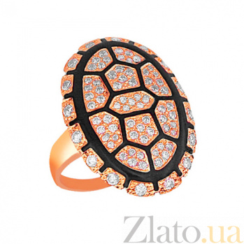 Кольцо из красного золота Полинезия с фианитами VLT--Т1004-2