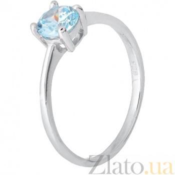 Серебряное кольцо с голубым фианитом Айрес SLX--К2ФТ/457
