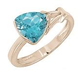 Кольцо в красном золоте Деметра с голубым топазом