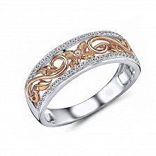 Кольцо Мишель из красного и белого золота с бриллиантом